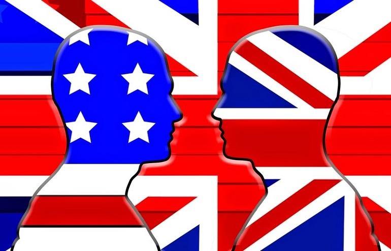 inglés británico, inglés americano