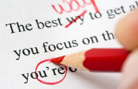 Proofreading a text